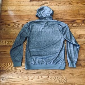 Burton Shirts - Grey Burton Fleece-Lined Hoodie w/Zip Pocket